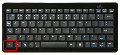 Windows Keyboard Control Key outlined