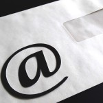 Email @ symbol on envelope